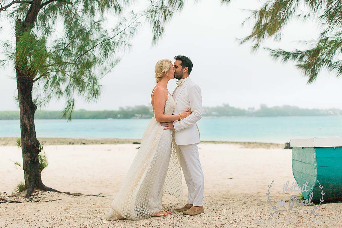 Destination wedding on the beach in Mauritius Island, Indian Ocean