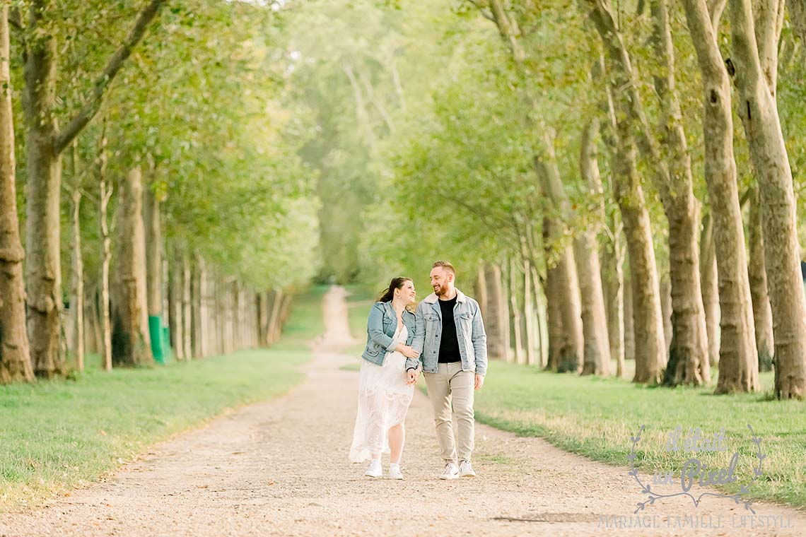 Shooting couple a Versailles